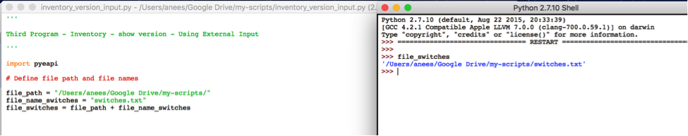 Python 2 7 input
